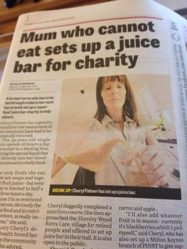Cheryl making fresh juices