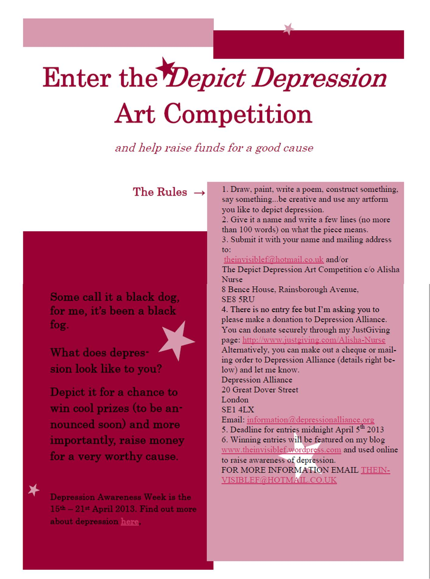 Depict Depression Art Competition