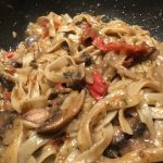 Food therapy: Tagliatelle with sun-dried tomatoes & mushrooms recipe