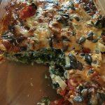 Crust-free kale and tomato quiche